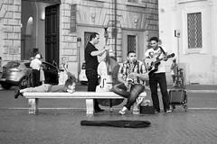 Fascinated by music (Adrien Zograffi) Tags: life street people urban bw calle strada personas persone vida rue personnes vita vie