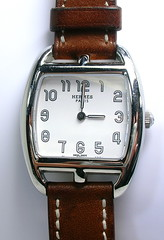 Hermes Watch (theappraiserlady) Tags: paris leather hands time watch timepiece wristwatch hermes ticktock horological theappraiserlady