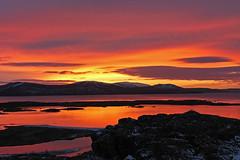 pingvellir national park (scott1346) Tags: red orange hot color beauty clouds sunrise golden horizon 1001nights powerofart flickrstruereflection1 flickrstruereflection2