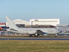G-SJET (IndiaEcho) Tags: england canon airplane airport aircraft aviation bedfordshire aeroplane international civil boeing luton airfield silverjet ltn 762 767200 eggw gsjet