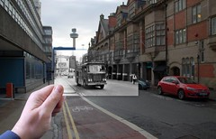 Hatton Garden, 1970 in 2014 (Keithjones84) Tags: liver liverpool merseyside old then now thenandnow rephotography