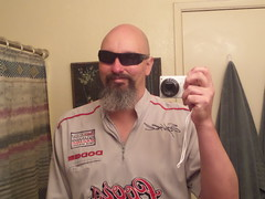 Mirror Self Picture (cjacobs53) Tags: light portrait sun beer glass sunglasses self bathroom mirror uniform bald picture cj jacobs clarence coors jacobsusa flickrandroidapp:filter=none 114picturesin2014