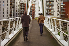Two men on a bridge (PicarusSlim) Tags: street bridge windows two people brown white photography photo shots path yorkshire leeds inspired clear jacket gareth clour ghz hoyle