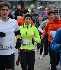 First Half Feb 16 2014 085249 (gherringer) Tags: canada vancouver race outdoors athletics downtown bc exercise britishcolumbia competition running seawall runners englishbay stanleypark colourful westend halfmarathon fit active bibs 211km 131mi vanfirsthalf 2014firsthalfhalfmarathon