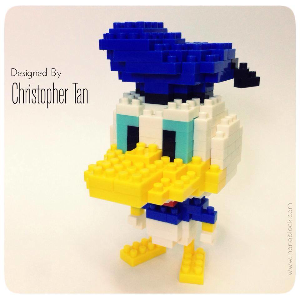how to build a lego donald duck out of bricks