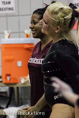 Saxon Reaux & Tawnee Hadd (Erin Costa) Tags: ladies college tx kitty arena gymnast gymnastics lions tumble denton twu magee centenary lindenwood