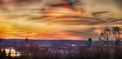 BASEL (stega60) Tags: trees sunset sky panorama skyline clouds landscape switzerland countryside scenery paisaje scene basel paysage landschaft rhein hdr basle messeturm regin basilea ble rocheturm flickrsfinestimages1 flickrsfinestimages2 stega60
