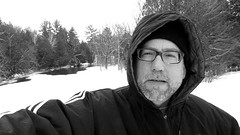 Selfie While Skiing (Art and Nature-Mike Sherman) Tags: winter snow march photo skiing michigan crosscountryskiing deerfieldpark isabellacountyparksandrecreation