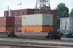 CP 527305 Smiths Falls, Ontario Canada 06262008 ©Ian A. McCord (ocrr4204) Tags: railroad ontario canada yard train wagon kodak rail railway container railcar fred traincar pointandshoot canadianpacific mccord cp shipping railyard cpr tibs trainyard cprail oocl railroadcar railroadyard doublestack z740 freightcar railwayyard railwaycar 1000000railcars ianmccord ianamccord rearenddevice