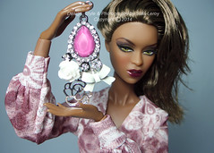 Behind the scenes Adele Makeda (Culte De Paris) Tags: jason paris tower scale floral fashion de toys miniature brooch blossoms jewelry eiffel cocktail fabric ii dresses flare 70s handcrafted 16 makeda boho wu adele fr couture royalty parisian haute integrity fr2 culte