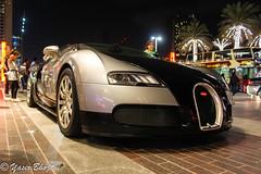 Bugatti Veyron (Yasir_Bhojani) Tags: black night mall dubai united uae gray emirates arab bugatti veyron