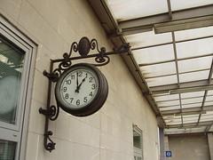 Station Clock (mostlybytrain) Tags: italy train italia fcu udine dmu