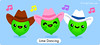Lime Dancing (FruityCuties) Tags: music cute cowboys fruit humour jokes kawaii citrus lime linedancing