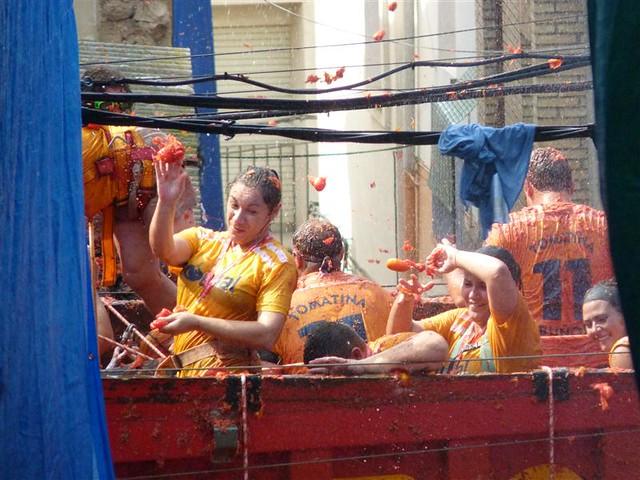 ブニョル(スペイン)のお祭り:トマティーナ