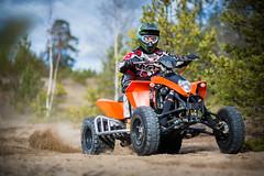ATV action! (David Nyman) Tags: terrain sports sport canon eos sand all mark iii 14 extreme sigma pit dirt vehicle 5d atv motor burnout dust 85 gravel