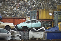 interesting scrap (Dave S Campbell) Tags: classic car scotland glasgow steel shell pile spotted 100 1970 recycle audi scrap coupe 1976