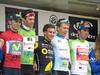 Podio completo de la 4ª etapa (La Campana - Sevilla). Vuelta Ciclista a Andalucía 2017. Sevilla.
