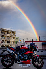 IMG_0464 (HoragamePhoto) Tags: rainbow bike speedtriple motorcycle