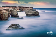 Sea caves (Andreas Iacovides) Tags: landscape seascape long exposure sea ocean rock rocks golden hour canon eos 5d mark iii peyia pafos paphos cyprus cloudsstormssunsetssunrises