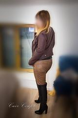 elle330 (Cuir Couple) Tags: cuir leder leather cuero veste jacket jupe skirt pantalon pant hosen mistress maitresse cuissardes maître master bondage bdsm