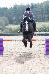 Flying! (Ed Swift) Tags: 70200mmf28lisii boing school gayle lola jumping 7d2 horse poles canon flying