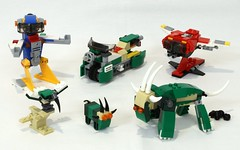 Creator 3-in-1 Alternate Models (JK Brickworks) Tags: lego remix alternatemodel goat mountain robot spaceship vulture motorcycle