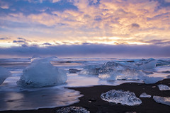 Iceland (Michael Zahra) Tags: iceland scandinavia europe beach water ice snow winter seascape coast coastal landscape nature travel tourism sun sunrise sunset clouds sky