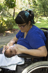 breastfeeding in a wheelchair in the park! (louisa_catlover) Tags: family portrait baby girl child daughter park garden maranoagardens