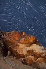 Petroglyphs at Night (Jeffrey Sullivan) Tags: petroglyphs star trails night photography astrophotography astronomy nevada southwest usa landscape nature canon 5dmarkii dslr photos copyright april 2012 jeff sullivan all rights reserved