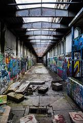 Death corridor (Fréd.C) Tags: tag town urbex color bourgogne dijon burgundy lost abandonné peinture abattoir