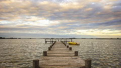 Muelle de Pescadores (sacculloruben) Tags: pesca lake lago landscape aire nubes sky ocasos sunsets