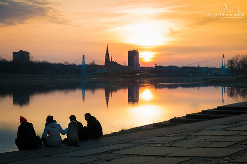 Waiting for a sundown in Osijek