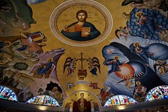 Holy Week begins. (ineedathis,The older I get the more fun I have....) Tags: church christpantocrator christian huntington holyweek greekorthodox stainglass iconography murals domepaintings art saintparaskevi religion colors patriarchabraham virginmary nikond750