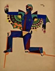 Costume for the ballet - The Princess of the iron Shoes (1918) - José de Almada Negreiros (1893-1970)
