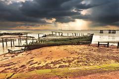 Thames Estuary (Croydon Clicker) Tags: thames river wreck clouds beach water nikon d5500 tokina1120mm kent cliffe 1000v40f