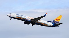 D-ASXP BOEING 737-800 (douglasbuick) Tags: aircraft boeing b737800 dasxp sun express takeoff edinburgh airport egph aviation scotland flickr airliner airlines airways nikon d3300 el gouna livery