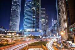 精修023 (林亦倫) Tags: 中環 車軌 夜景 風景 創作 外拍 線條 大樓