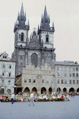 sep 1970 (14) (foundin_a_attic) Tags: staroměstskénáměstí square old town prague praha czechia chrámmatkybožípředtýnem church churchofourladybeforetýn