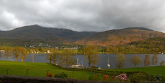 Coniston Waters (Laineyb93) Tags: nature colourful cumbria nationalpark bankgroundfarm lake coniston waters boat sunglow early morning countryside landscape skyscape nikond7000 nikonworld trees waterside lakedistrict moodysky clouds greenery greatbritain