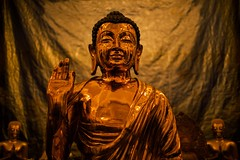 Golden Buddha (alisdair jones) Tags: ef35mmf14lusm golden buddha statue shiny tooth temple sridaladamaligawa kandy srilanka