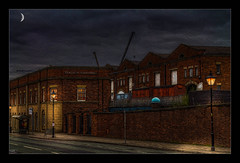 Liverpool Road Station (Kevin, Mr Manchester) Tags: architecture building canon1100d canon1855mm castlefileds citycentre england hdr lancashire manchester northwest outdoor photoart photoborder postprocessing streetlamps streetlights railwaystation