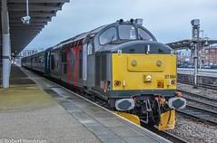 37884 (47843 Vulcan) Tags: 37800 37884 railoperationsgroup tractor class37 377 derby mk2 coach blueandgrey rivieratrains