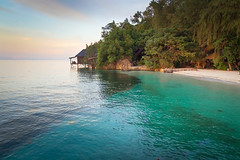 Indonesia (slow paths images) Tags: indonesia asia sulawesi togianislands kadidiri sea ocean water clear colours beach seaside trees jungle forest house evening sunset dusk seascape naturallight peaceful remote isolates empty travel