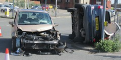Crash !! (billnbenj) Tags: barrow cumbria towncentre collision crash carcrash accident dangerousdriving rta