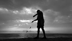 Fishing ! (Shanmuga Nathan.) Tags: chennai mychennai nammachennai cwc chennaiweekendclickers cwcwalk walk580 marinabeach sea seashore seaside madras shan nature sunrise sunlight firstlight mornings marina marinamornings canon 600d twop ngc natgeo instapic instaclick instalove shanmuganathanphotography capturemachine tamilnadu asia india longestbeach sky beach bw