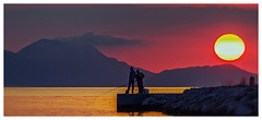Fishing at Sunset  - Sivota Harbour - Greece  (Canon EOS 7D & EF-S 55-250mm Telephoto Zoom) (markdbaynham) Tags: sky sunset colour people greece sivota cloud canon canonite 7d apsc dslr eos efs 55250mm telephoto