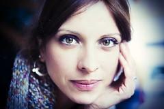 """film blue"" (monicacastigliego) Tags: sister sorella sguardo look eyes occhi filmblue kieslowski francia parigi"