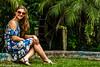 Ensaio Feminino (ArgeoneHerbst) Tags: mulherbonita mulher fotografia canont5 canon photography modelo model verde jardim vestido azul loira namorada linda bonita book retrato foto 50mm