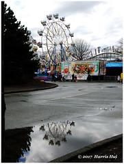Rise In The Air - Lansdowne X5188e (Harris Hui (in search of light)) Tags: harrishui fujix10 digitalcompact fuji fujifilm vancouver richmond bc canada vancouverdslrshooter pointshoot lansdowne lansdownecarnival reflection riseupintheair divedeepintothewater ferriswheel funfair amusementpark