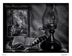 170331-2097FF (George Bruckner) Tags: withgrace bible religion feather symbolism relic saint book blackandwhite blackandwhitephotography bw bwphotography biblebook georgebruckner georgebrucknerphotography bruckner brucknersphotography stilllife fineartphotography fineart oillamp shadows